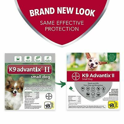 Bayer K9 Advantix II For Dog, Small Dogs 4-10 lbs, 4 Month Supply K-9 Flea Tick
