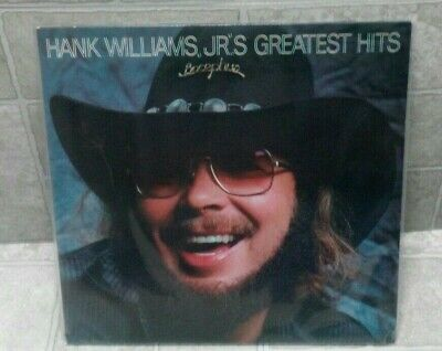 Hank Williams Jr Greatest Hits LP 1982 Elektra E1-60193 // Play Graded VG++
