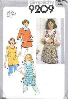 Vintage Women's 1980's Full APRON Smock Sewing Pattern UNCUT Cooking Pockets