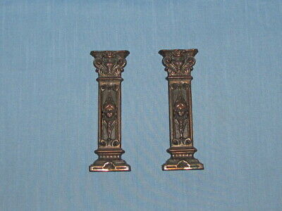 Antique Seth Thomas Mantle Clock Ornaments Trim Parts (2)