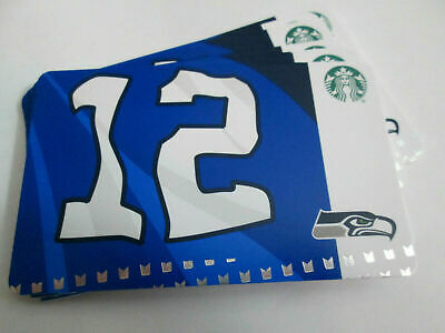 Starbucks Card 2019 SEATTLE SEAHAWKS 12th Man w/ NFL Hologram - NEW Unused