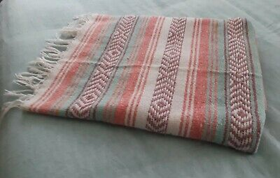 Multicolored Mexican Throw Blanket (Sarape/Serape/Falsa Blanket) - 47 x 66""