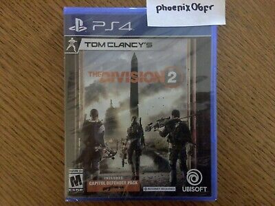 New! Tom Clancy's The Division 2 w/ Capitol Defender (PlayStation 4 PS4) Sealed!