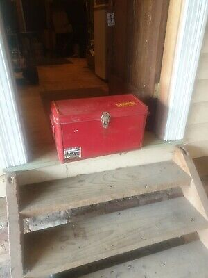 Vintage Sidchrome Tool Box And Tools
