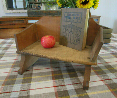 PRIMITIVE CHILD's WOOD DOVETAILED SLED SEAT ~PARIS ME. MFG ~ MAKE-DO RISER/STOOL