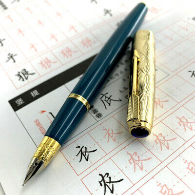 Excellent Material Fountain Pen Wing Sung 601A Wave Golden Cap Vacumatic Pen
