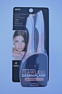 New Finishing Touch Flawless Dermaplane Facial Exfoliator and Hair Remover...E3