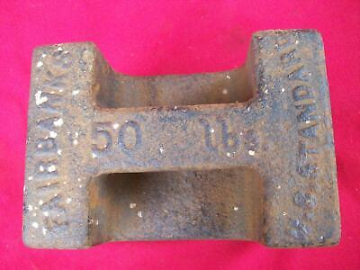 Antique Fairbanks Standard 50 Pound Cast Iron Scale Weight--Door Stop?