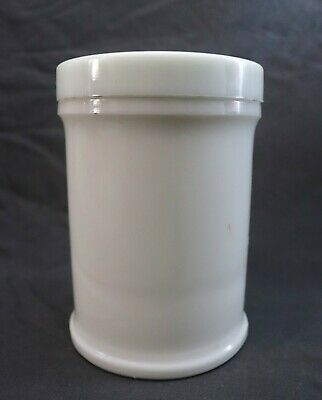 Antique Vtg Whitall Tatum Milk Glass Apothecary Medical Large Counter Jar w Lid
