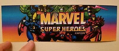 Marvel Super Heroes marquee sticker. 3.25 x 10.5 (Buy 3 stickers, GET ONE FREE!)