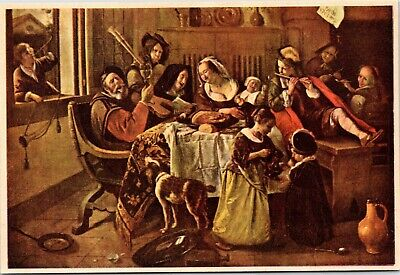 postcard The Happy Family by Jan Steen