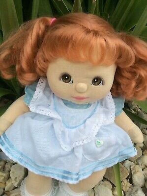 My child doll, red head ringlet ponies. Brown eyes & Charcoal pink (very rare