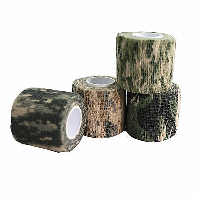 Self-adhesive Non-woven Camouflage WRAP RIFLE GUN Hunting Camo Stealth Tap SJAU