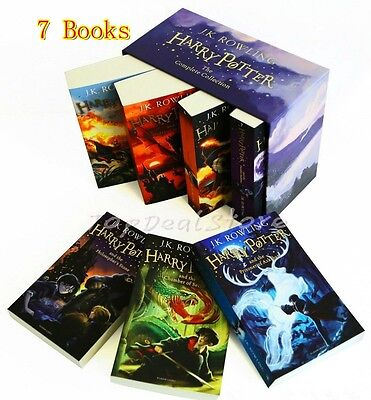 Harry Potter 7 Books Box Set The Complete Collection  J.K Rowling 7 Books New
