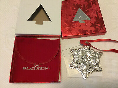 2001 Wallace Sterling Silver (not plate) Snowflake Ornament