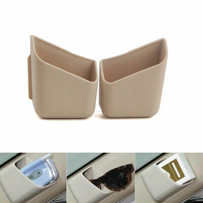 Universal Car Glasses Cigarette Storage Box Organizer Holder Accessories Beige