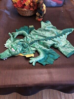 "Alligator Dragon DOG COSTUME Puppy Apparel Halloween Outfit SIZE LARGE 18"" EUC"