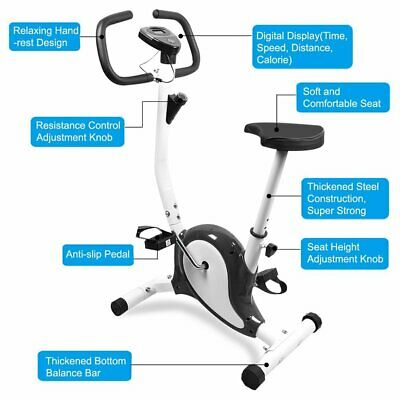 Exercise Bike Stationary Bicycle Fitness Cycling Cardio Aerobic Gym Trainer Home