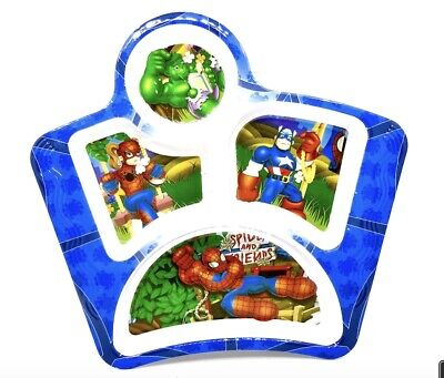 Spider Girl & Friends,Divided Plate,plastic,Toddler