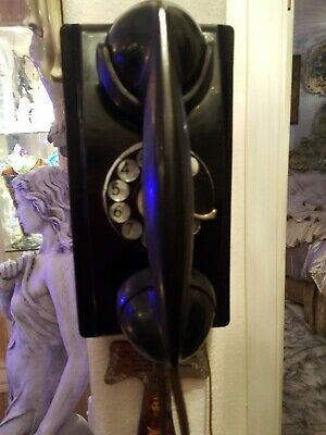 Very Nice Vintage Working Western Electric Wall Telephone