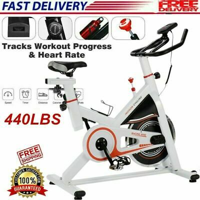 Pro Fitness Stationary Exercise Bike Cardio Indoor Cycling Bicycle Home & Gym WN