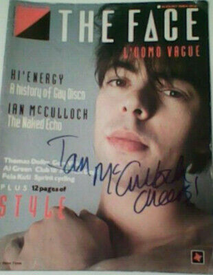 Echo & the Bunnymen Ian McCulloch signed FACE Magazine CURE Smiths autographed