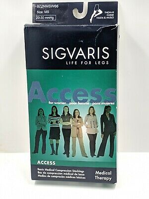 Sigvaris Access 20-30mmHg Women's Closed Toe Thigh Highs W/Grip 972NMSW66 (MS)