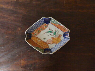 koi9.17 Plate porcelain antique Japanese Imari ware late Meiji 19th century