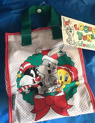 Looney Tunes Lovables Christmas Baby Mini-Tote New With Tags Vintage 1994