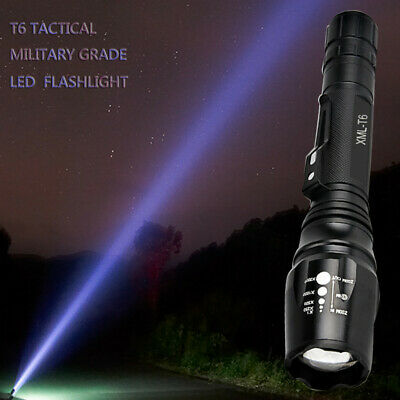 Zoomable Elfeland T6 LED Tactical Focusing Flashlight Rechargeable 5-Mode Torch