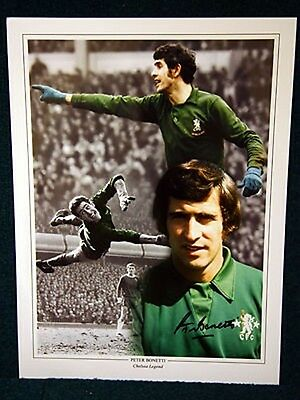 Peter Bonetti Signed Chelsea Large Photo