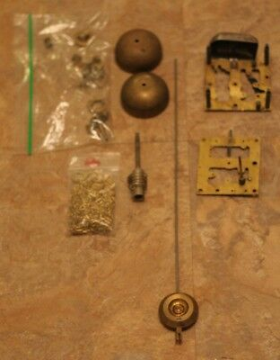 Vintage Clock Parts Waterbury Co USA Long Pendulum Chain Bell Key Mini Hardware