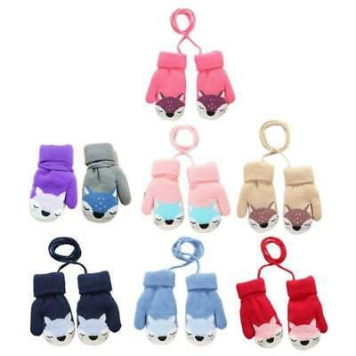 Baby Boy Girl Winter Wool Plus Thick Full Rope Finger Mittens Warm Knitted Glove
