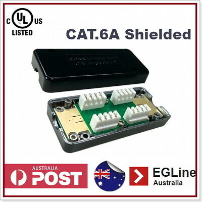 Cat6A Inline Cable Joiner IDC Punch-Down CAT6A Data Cable Coupler UL Listed