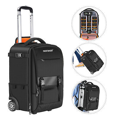 Neewer 2-in-1 Rolling Camera Backpack Trolley Case, Anti-shock