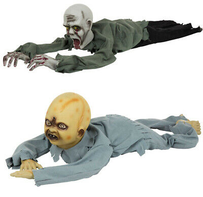 Animated Crawling Baby Zombie Prop Halloween Party Decoration Light UpTalking