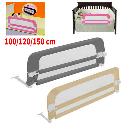 Folding Baby Bed Safety Rail Guard Kid Toddler Infant Sleeping Play Protection