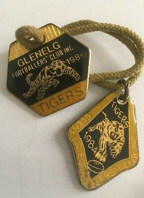 2 x Glenelg Footballers Club Badges from 1984 and 1986