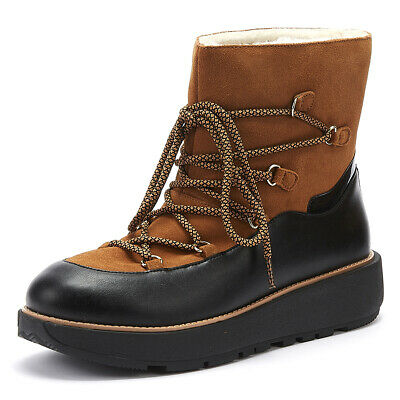FitFlop Skandi Womens Tan Suede Boots Ladies Warm Winter Shoes