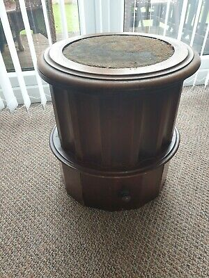 Victorian mahogany library stool combined with comode
