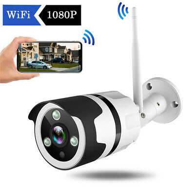 FHD 1080P Wireless WIFI In/Outdoor Home Security IP Camera Bullet Night Vision