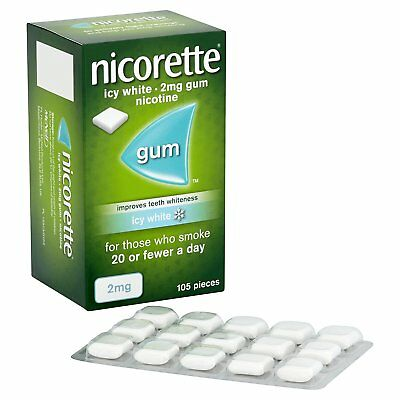 Nicorette Icy White 2mg Gum - 105 pieces  (Genuine)