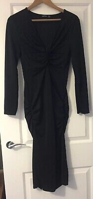 ONLY WORN ONCE BOOHOO Black Maternity Dress Size 10