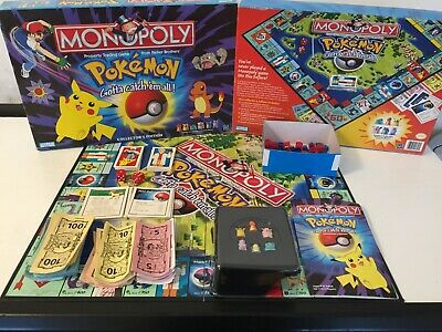 RARE POKEMON  COLLECTORS EDITION MONOPOLY BOARD GAME- PARKER BROTHERS **af**