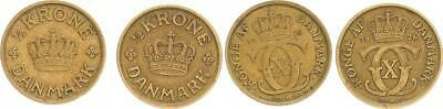 Denmark, 1/2 Crown 1925 and 1926 Vf-Xf