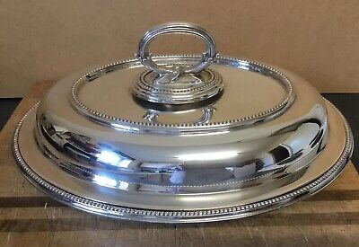 Nice Antique / Vintage Silver Plated Food Warm Entree Serving Dish Lid Vgc W&H