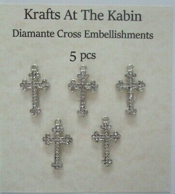 Jewelry 3 Vintage-inspired Silver Metal Cross Art Deco look Embellishments