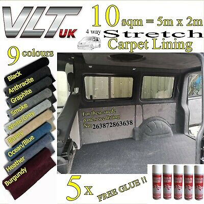 10 sqm CAMPER VAN CARPET LINING STRETCH VW T1 T2 T5 T6 TRANSIT SPRINTER CARAVAN.