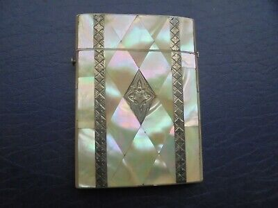 Antique   Mother Of Pearl Card Case    47