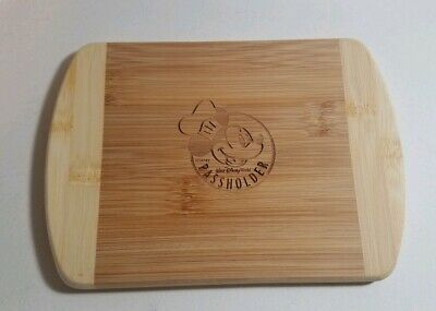 Disney PARKS Annual Passholder Chef Mickey Cutting Board Epcot & Food NEW